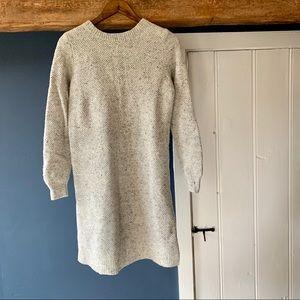 Madewell button-back sweater dress